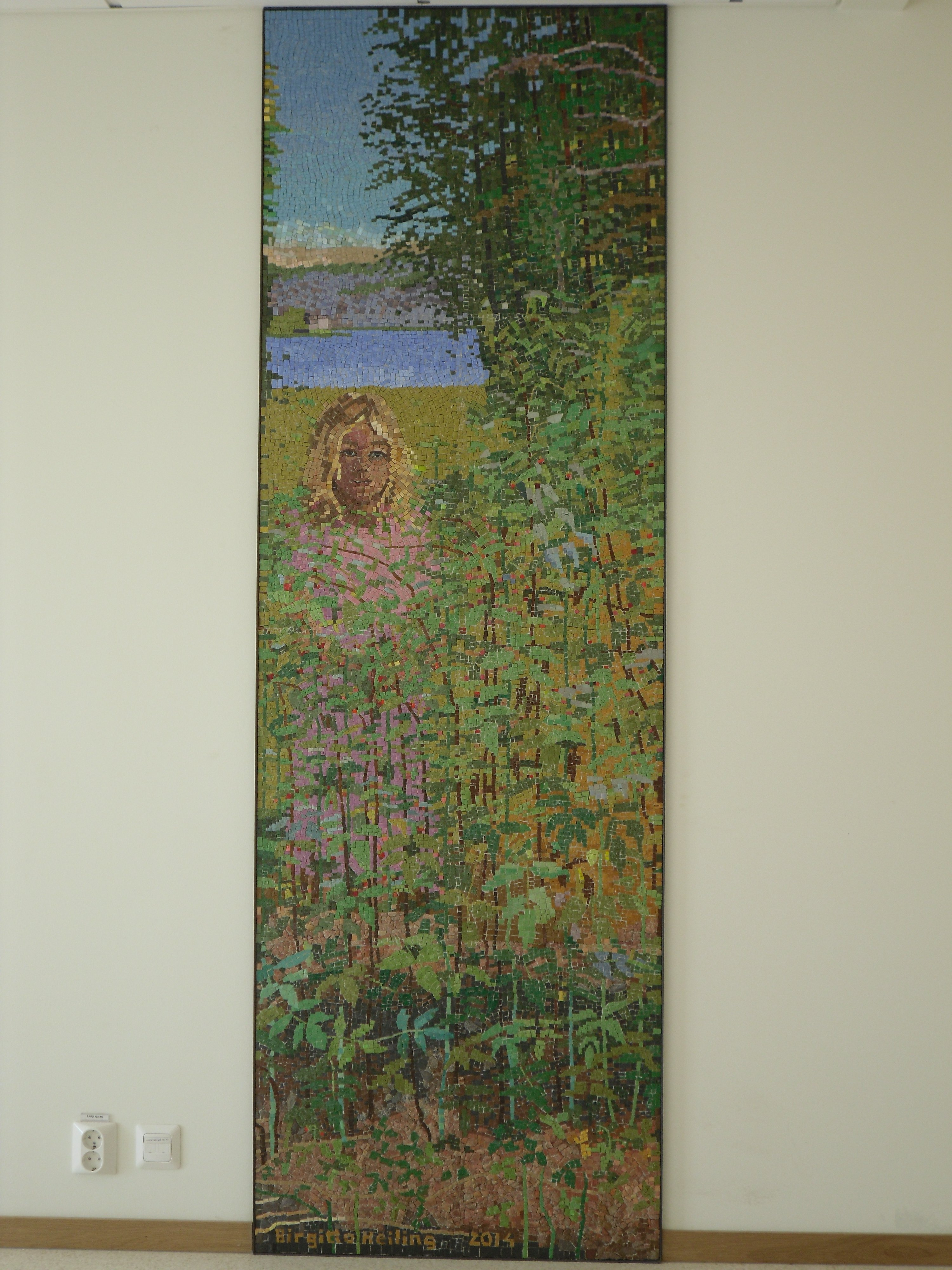 Minnena, mosaik 2014 Nyköping