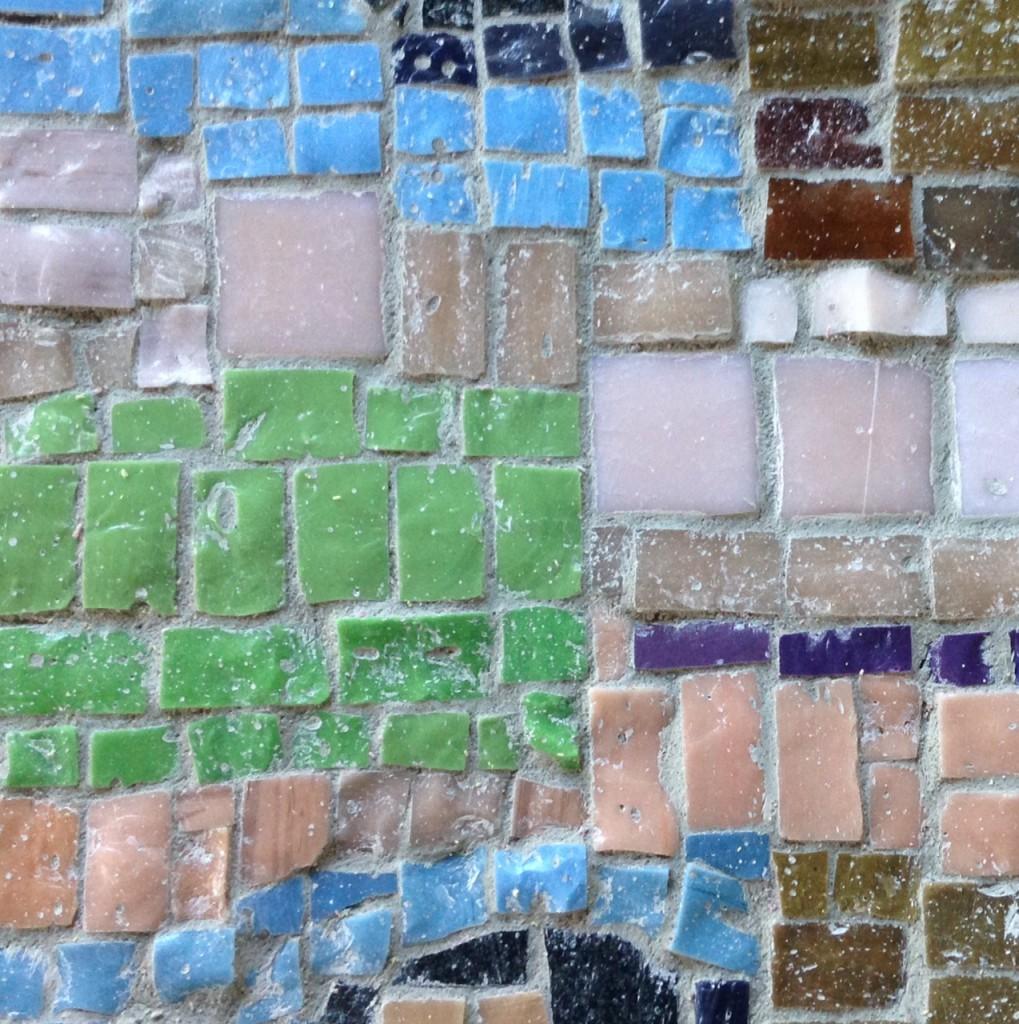 Detalj ur mosaik